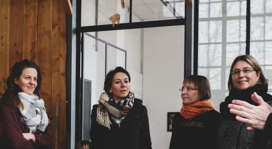 L'atelier menuiserie d'« Au bonheur des chutes » est ouvert à tous, moyennant un coût d'adhésion annuel à l'association - Crédit photo Région Bourgogne-Franche-Comté