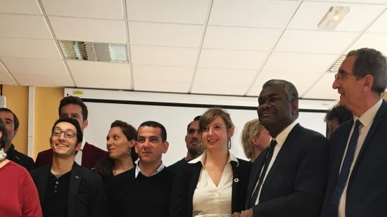 Inauguration de nouveaux locaux du Centre de ressource et d'expertise à la performance sportive (CREPS), mercredi 5 décembre 2018 à Besançon