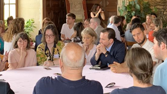Deuxième « escale » du projet MATRICE « patrimoine et numérique », soutenu par la Région Bougogne-Franche-Comté, mardi 18 juin 2019 au château du Clos de Vougeot - crédit photo Région Bourgogne-Franche-Comté