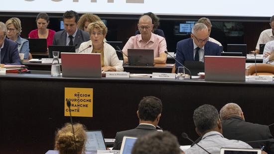 Assemblée plénière du Conseil régional de Bourgogne-Franche-Comté - 27 et 28 juin 2019 à Dijon Crédit David Cesbron