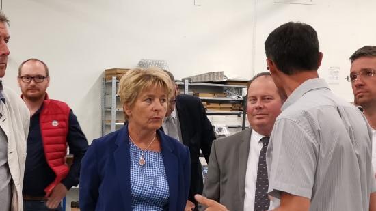 Visite de Marie-Guite Dufay, présidente de Région, chez Gutenberg & Co, à Nevers (58), jeudi 4 septembre 2019 - Photo Région Bourgogne-Franche-Comté