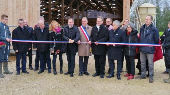 Inauguration d'une nouvelle stabulation pour l'EPLEFPA des Terres de l'Yonne, à Venoy, mardi 12 novembre 2019 - Crédit photo Région Bourgogne-Franche-Comté