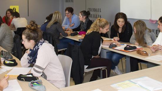 Elèves infirmières de l'IFSI Nevers - Crédit photo Région Bourgogne-Franche-Comté / David Cesbron