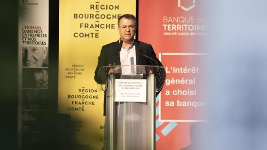 Conférence régionale de l'ESS – 16 septembre 2020 à Dole (39) – Photo David Cesbron / Région Bourgogne-Franche-Comté