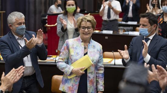 Réélection de Marie-Guite Dufay Photo David Cesbron