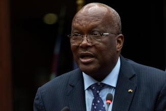 Christian Kabore, président du Burkina Faso, Dijon, mardi 18 décembre 2018 - Crédit photo Vincent Arbelet
