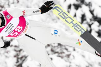 Maren Lundby, championne olympique, au stade des Tuffes, aux Rousses (39) - Crédit Jura Ski Events