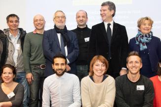 Inauguration de l'école des hautes études en apiculture avec Arnaud Montebourg, 14 janvier 2019 à Dijon - Crédit Vincent Arbelet