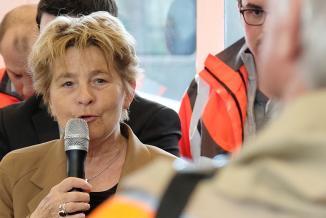 Lancement des travaux d'accessibilité à la gare de Dole (39), mercredi 13 mars 2019 - Photos Xavier Ducordeaux
