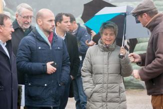 Visite des pépinieres Naudet à Planchez (58) - Photo DR
