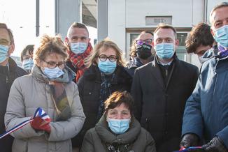 Inauguration de la mise en accessibilité de la gare de Dole, jeudi 11 février 2021 - Photo Région Bourgogne-Franche-Comté