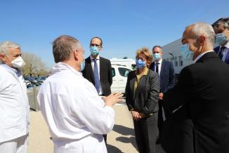Visite du centre hospitalier de Mâcon le 29 mars 2021