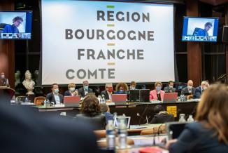 Assemblée plénière du Conseil régional de Bourgogne-Franche-Comté, vendredi 9 avril 2021 à Dijon – Crédit photo Région Bourgogne-Franche-Comté