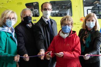 Inauguration du nouvel hélicoptère sanitaire du CHU de Dijon, mercredi 26 mai 2021 – Photo Région Bourgogne-Franche-Comté
