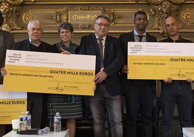 Remise de récompenses au concours de l'Economie sociale et solidaire -  Région  Bourgogne-Franche-Comté / David Cesbron