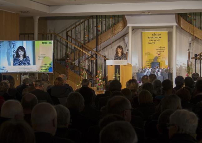 Remise des trophées de l'édition 2018 du label « villes et villages fleuris », samedi 24 novembre à Besançon