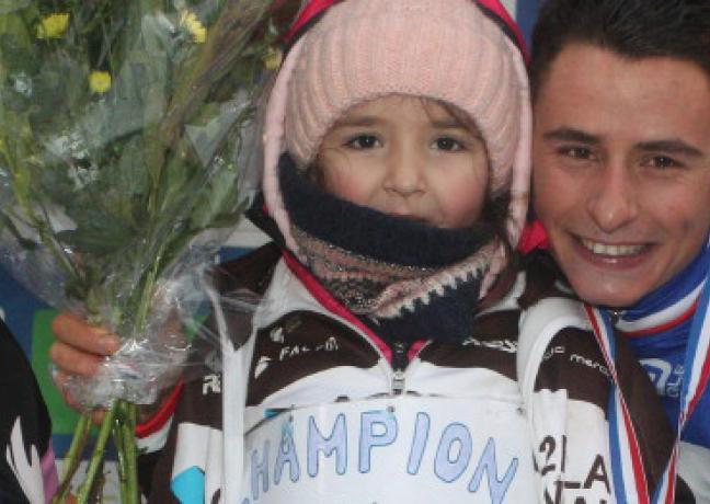Clément Venturini, champion de France de cyclo-cross, dimanche 14 janvier 2019 à Besançon (25) - Crédit FFC