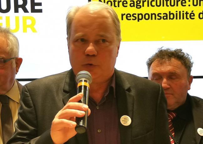 Lancement de la campagne de réhabilitation de l'agriculture et de ses agriculteurs lancée par Marie-Guite Dufay, Présidente de la Région, et Christian Decerle, Président de la chambre d'agriculture de Bourgogne-Franche-Comté, février 2019 - Photo DR