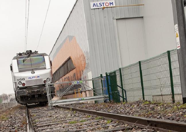 Sur la voie d'essais 51, les trains peuvent rouler jusqu'à 60 km/h.