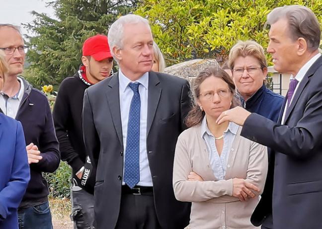 Visite de Marie-Guite Dufay, présidente de la Région Bourgogne-Franche-Comté, au lycée agricole de Challuy (Nièvre), lundi 2 septembre 2019 - Photo DR