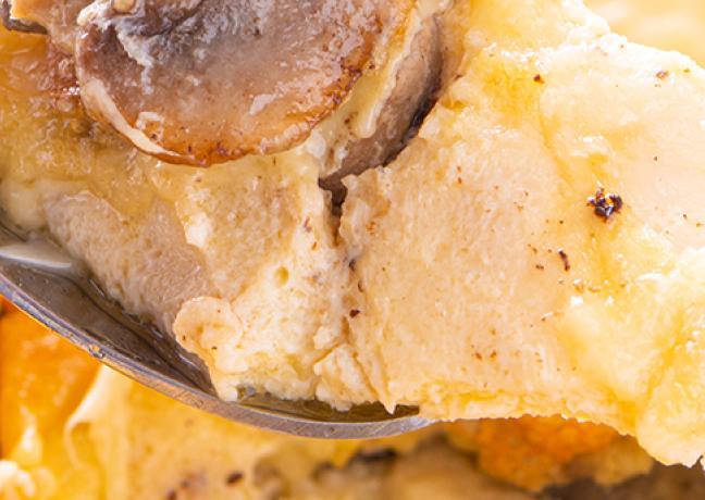 Omelette au four aux champignons de Paris de Blandine et Luc Lecherf et de Comté bio de la Fruitière du Temps Comté - Photo © William Beekman