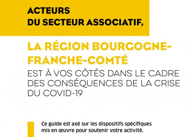 Covid-19 - La région Bourgogne-Franche-Comté aux côtés des acteurs du secteur associatif dans le cadre des conséquences de la crise