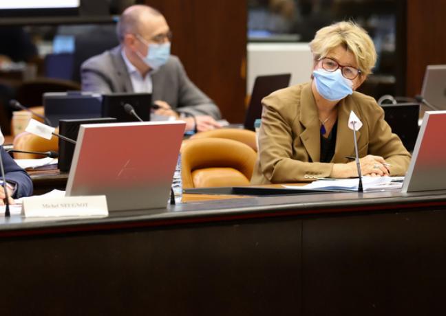 Assemblée plénière du Conseil régional de Bourgogne-Franche-Comté, lundi 16 novembre 2020 - Photo David Cesbron