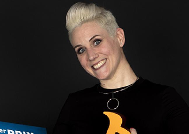 Lauréate de l'édition 2020 du concours Initative au féminin, Claire Arnou a reçu un chèque de 5 000 € et fera la Une de l'affiche de l'édition 2021 - Crédit photo Olivier Perrenoud