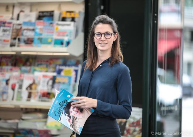 En 2016, Aurélie Bresson a fondé le premier magazine dédié au sport féminin, Les Sportives. Photo © Marie Lopez-Vivanco