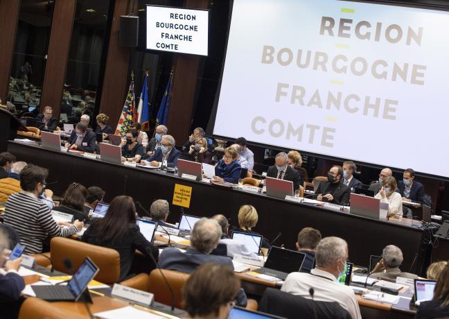 Assemblée pléniere de la Région Bourgogne-Franche-Comté, vendredi 22 octobre 2021 - Photo Région Bourgogne-Franche-Comté David Cesbron