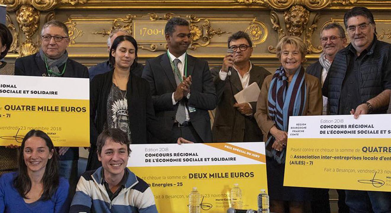 Remise de prix du Concours régional de l'ESS 2018 - Crédit photo Région Bourgogne-Franche-Comté/David Cesbron