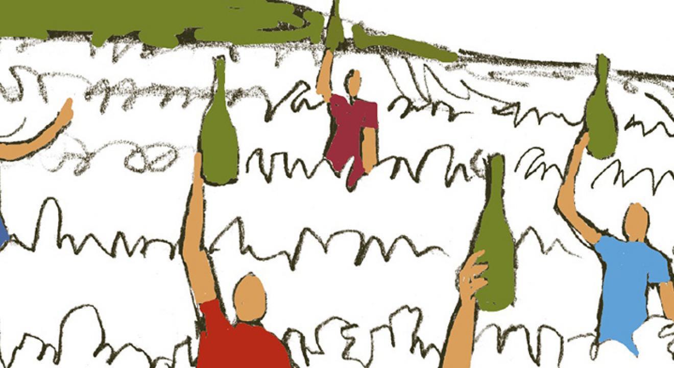 Visuel de la vente aux enchères des vignerons bourguignons en faveur du personnel soignant des hôpitaux - DR