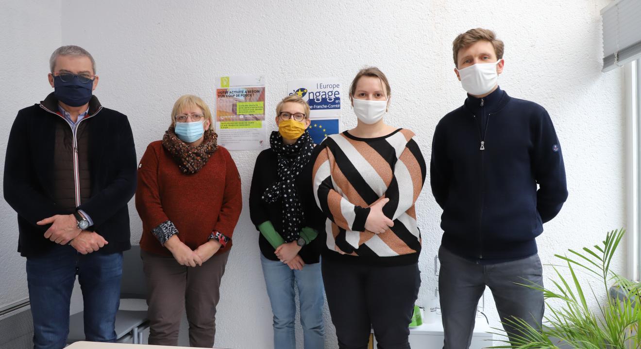 : Une partie de l'équipe du SASTI – Photo © Région Bourgogne-Franche-Comté